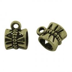 Attache métallique bronze antique style Pandora - à l'unité