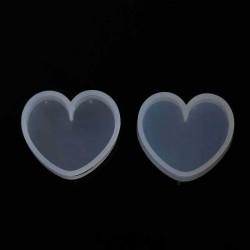 Moule silicone pour résine Coeur