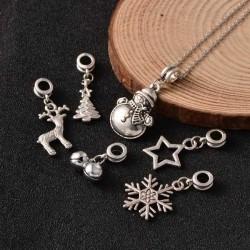 Lot 6 Charms Thème Noël style Pandora - à l'unité