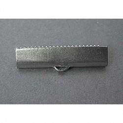 Embout métal pince à griffe 25 x 6 mm - la paire
