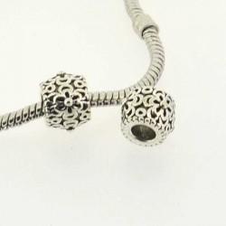 Charm rondelle fleur délicate style Pandora - à l'unité