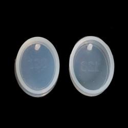Moule silicone pour résine Ovale