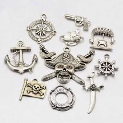 Pendentifs breloques Pirates x 10