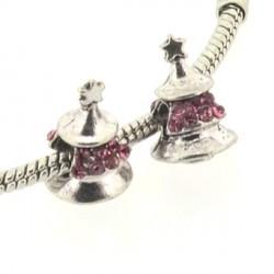 Charm Sapin strass rose style Pandora - à l'unité