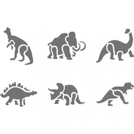 Pochoir plastique Animaux préhistoriques