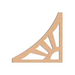Arabesques - Arabesque n°9 Sujet en bois brut