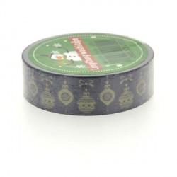 Masking Tape Boules dorées - 15 mm x 10 m