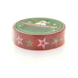 Masking Tape Etoiles rouges - 15 mm x 10 m