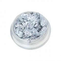 Petit pot 4 gr Feuilles aluminium argentées