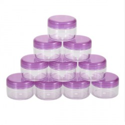 Petit pot en plastique 5 gr violet transparent