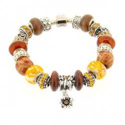 Bracelet style pandora Africain
