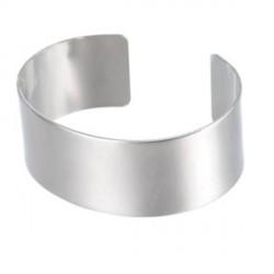 Bracelet manchette plat 18 cm, largeur 2,5 cm