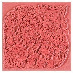 Plaque de texture Indian Elephant 9 x 9 cm