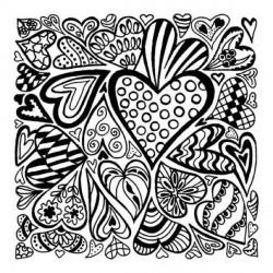 Plaque de texture Hearts 9 x 9 cm