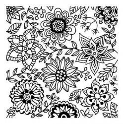 Plaque de texture Blossom 9 x 9 cm
