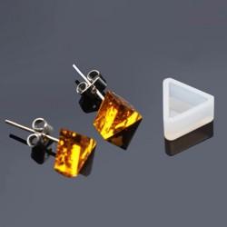 Moule silicone pour résine Boucle d'oreille Triangle