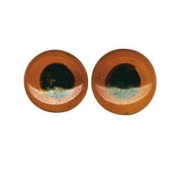 Oeil d'animaux en verre à coudre, marron
