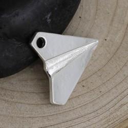 Pendentif breloque en métal Origami Avion