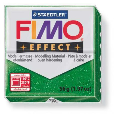 Fimo Effect 502 Vert Pailleté - 56 gr