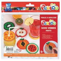 Kit perles à repasser Perlou Midi - Sous-verres fruits