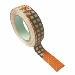 Masking Tape Tissu Melting pot orange - 15 mm x 5 m