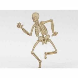Halloween - Squelette Sujet en bois brut