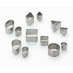 12 emporte-pièces métalliques pour fimo