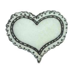 Coeur blanc Miniatures en bois