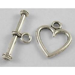 Fermoir coeur en métal
