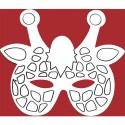 Masque carton Girafe