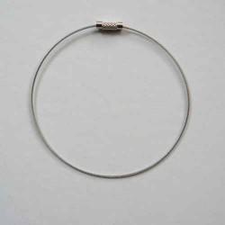 Bracelet métal couleur argent, 23cm