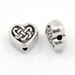 Perle de métal coeur celtique