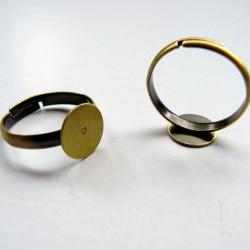 Bague ronde réglable, plateau 10 mm, bronze sans nickel
