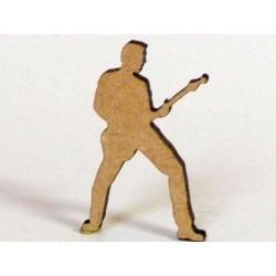 Musique - Guitariste Sujet en bois brut