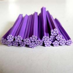 Cane Fimo Flocon violet