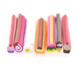Lot 7 Canes Fimo Friandises