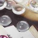 Cabochon rond 10 mm en verre