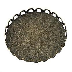 Support à cabochon 25 mm intérieur, bronze antique