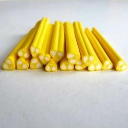Cane Fimo Coeur jaune