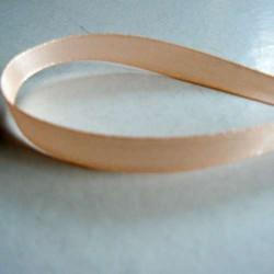 Ruban satin uni abricot, 10 mm, au mètre