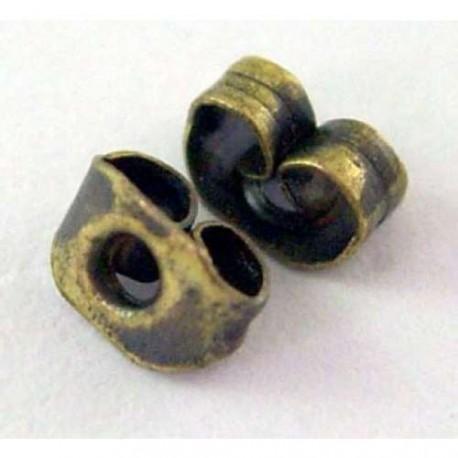 Embouts pour clous d'oreilles 5,5x4mm bronze antique