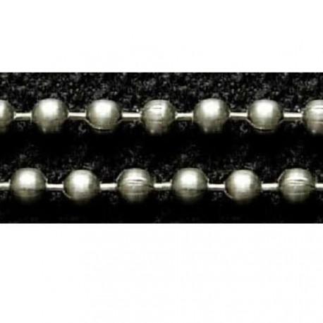Chaîne billes, Ø2,4 mm argenté