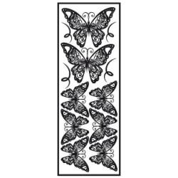 Transfert velours thermocollant Papillon noir