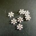 10 x Perle séparatrice argenté clair, 10 mm