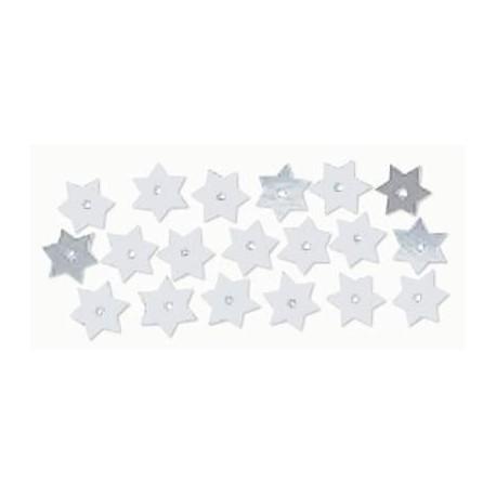 Paillettes étoiles, 10mm, argent