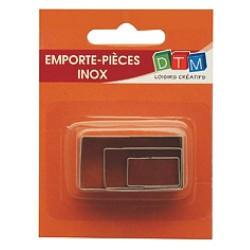 3 emporte-pièces Rectangles métalliques pour fimo
