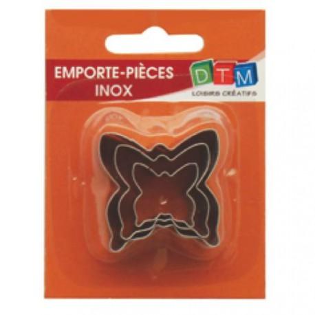 3 emporte-pièces Papillons métalliques pour fimo