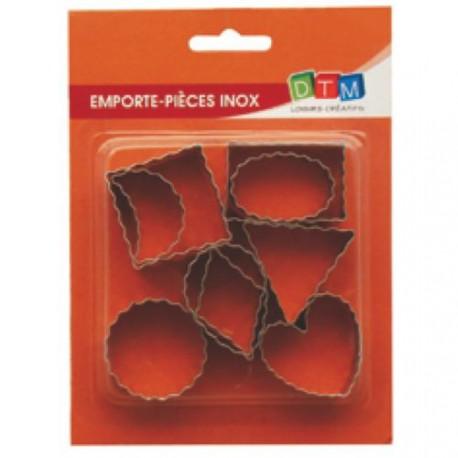9 emporte-pièces Contours ondulés métalliques pour fimo