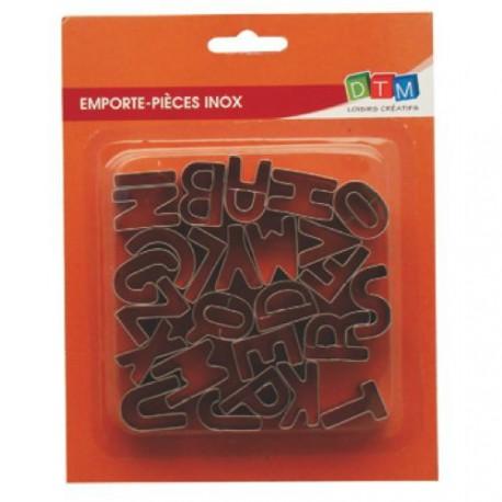 26 emporte-pièces Alphabet métalliques pour fimo