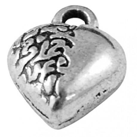 Pendentif breloque en métal Coeur bis